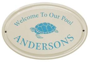 Whitehall Turtle Oval Plaque Sea Blue