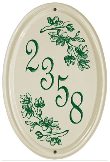 Whitehall Dogwood Vertical Oval Ceramic Plaque