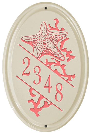 Whitehall Starfish Vertical Oval Ceramic Plaque