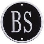 Whitehall Address Plaques Black With Silver