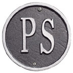 Whitehall Address Plaques Pewter With Silver