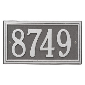 Whitehall Double Line Plaque Pewter Silver