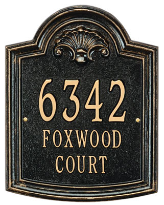 Whitehall Elderwood Address Plaque Product Image
