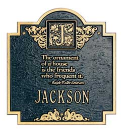 Whitehall Emerson Address Plaque Product Image