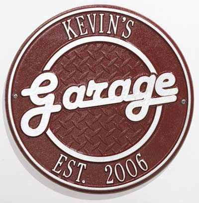Whitehall Garage Two Line Wall Plaque Product Image