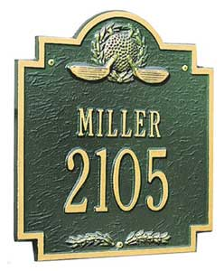 Whitehall Golf Emblem Address Plaque Product Image