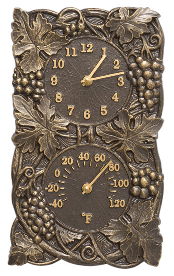 Whitehall Grapevine Clock And Thermometer Product Image