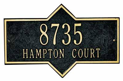 Whitehall Hampton Address Plaque