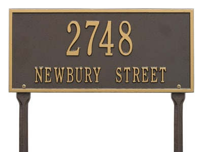 Whitehall Hartford Rectangle Lawn Marker Address Plaque Product Image