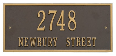 Whitehall Hartford Address Plaque Horizontal Rectangle Product Image