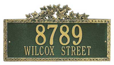 Whitehall Ivy Address Plaque Product Image