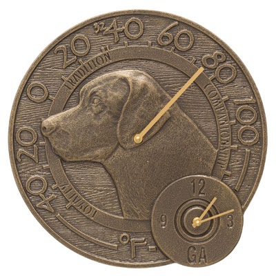 Whitehall Labrador Clock And Thermometer Product Image