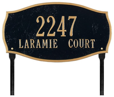 Whitehall Laramie Oval Arch Lawn Marker Address Plaque Product Image