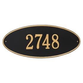 Whitehall Madison Oval Plaque Black Gold