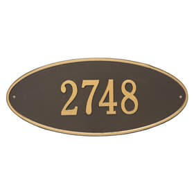 Whitehall Madison Oval Plaque Bronze Gold
