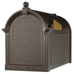 Whitehall Decorative Post Mount Mailboxes Bronze
