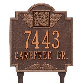 Whitehall Monogram Lawn Marker Antique Copper
