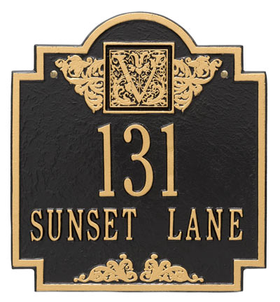 Whitehall Monogram Address Plaque Product Image