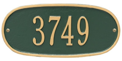 Whitehall Standard Oval Aluminum Address Plaque Product Image