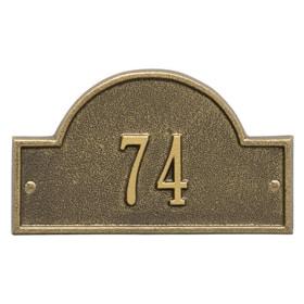 Whitehall Arch Marker Petite Antique Brass