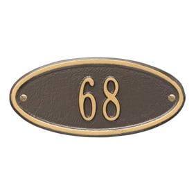 Whitehall Madison Petite Plaque Bronze Gold