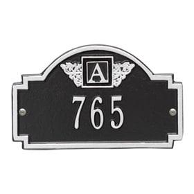 Whitehall Monogram Petite Plaque Black Silver