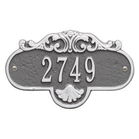 Whitehall Rochelle Petite Plaque Pewter Silver