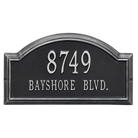 Whitehall Providence Arch Plaque Black Silver