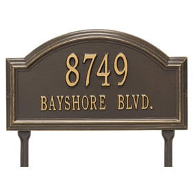 Whitehall Providence Arch Lawn Bronze Gold