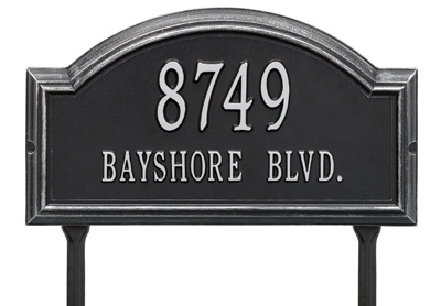 Whitehall Providence Rectangle Arch Lawn Address Plaque Product Image