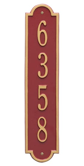 Whitehall Richmond Vertical Address Plaque Product Image