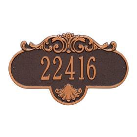 Whitehall Rochelle Address Plaque Antique Copper