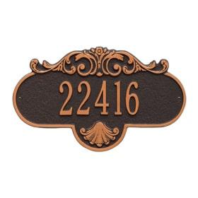 Rochelle Address Plaque Oil Rubbed Bronze