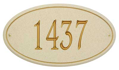 Whitehall San Diego Carved Stone Address Plaque Product Image