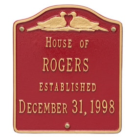 Whitehall Wedding Plaque Red Gold