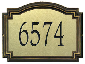 Whitehall Williamsburg Artisan Metal Address Plaque