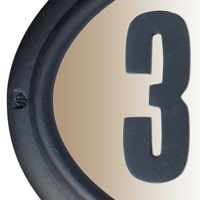 QualArc Edgewood Address Plaques Black