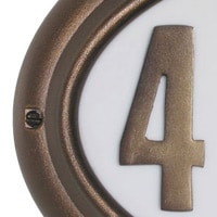 QualArc Edgewood Address Plaques French Bronze