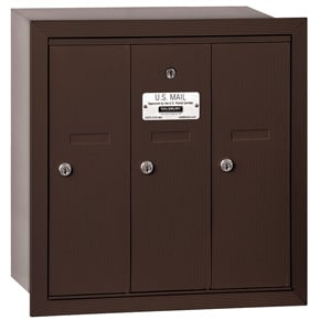 Salsbury 3 Door Vertical Mailbox Bronze