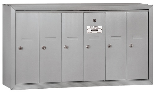 Salsbury 6 Door Surface Vertical Mailbox