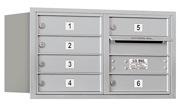 Salsbury 4C Mailboxes 3704D-06R Aluminum