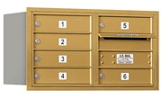 Salsbury 4C Mailboxes 3704D-06R Gold