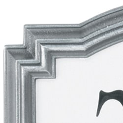 Whitehall Reflective Address Plaques Pewter