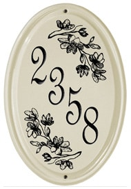 Whitehall Dogwood Vertical Oval Plaque Black