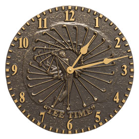 Whitehall Golfer Clock French Bronze