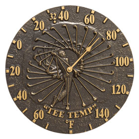 Whitehall Golfer Thermometer French Bronze