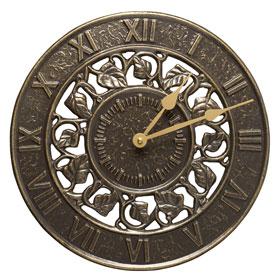 Whitehall Ivy Clock French Bronze