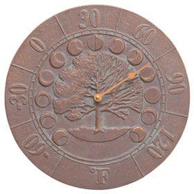 Whitehall Times Seasons Thermometer Copper Verdigris