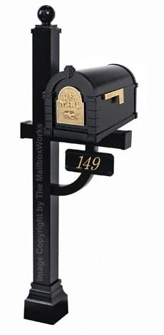 Keystone Eagle Deluxe Post Black Brass
