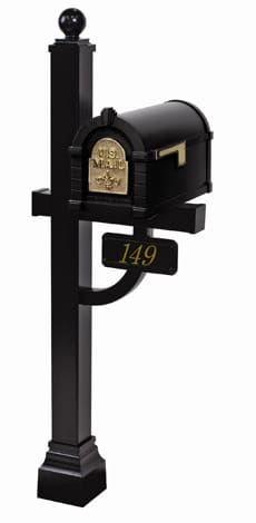 Keystone FleurDeLis Deluxe Post Black Brass